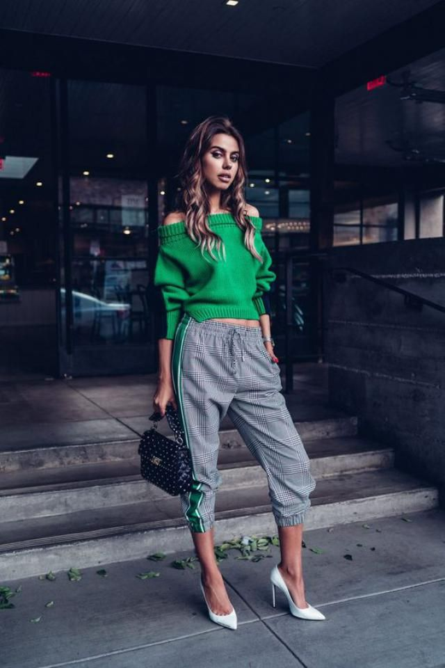 ZAFUL Off The Shoulder Lantern Sleeve Pullover Sweater