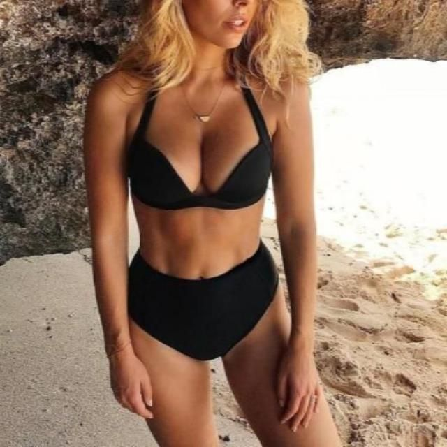 Black swimwear, bikini set, online shop, women fashion style, get it now, zaful style, hot on zaful, trend on zaful!!