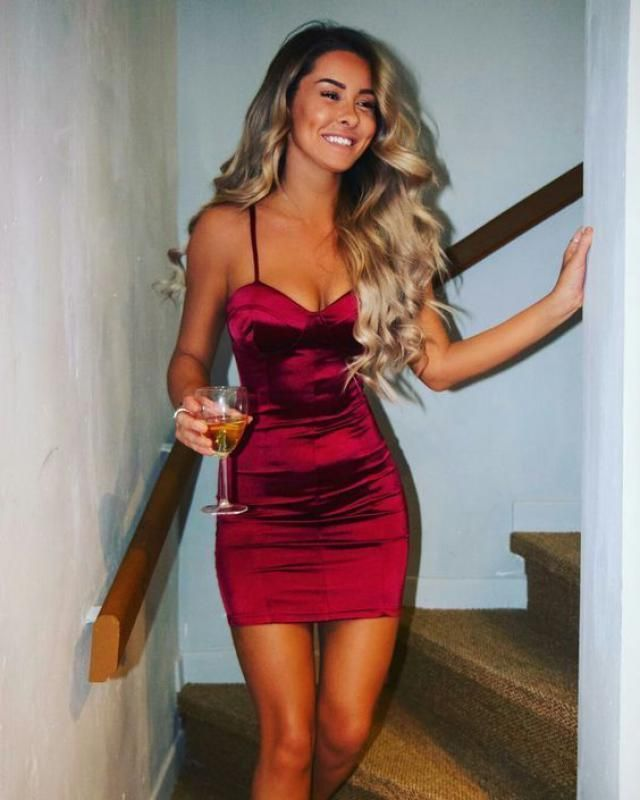 Zaful Party Mini Dress Red