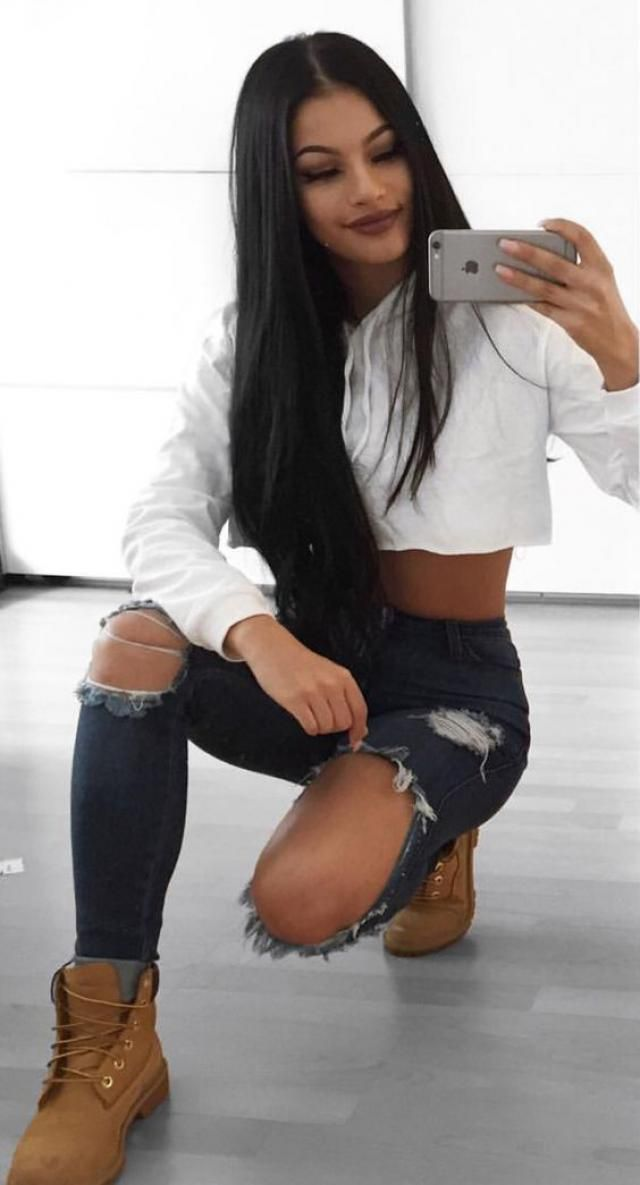 ZAFUL Crop Hoodie White  Top jeans  and crop hoodie , BUY HERE, Excellent quality, low price, Only in ZAFUL! ZAFUL IS…