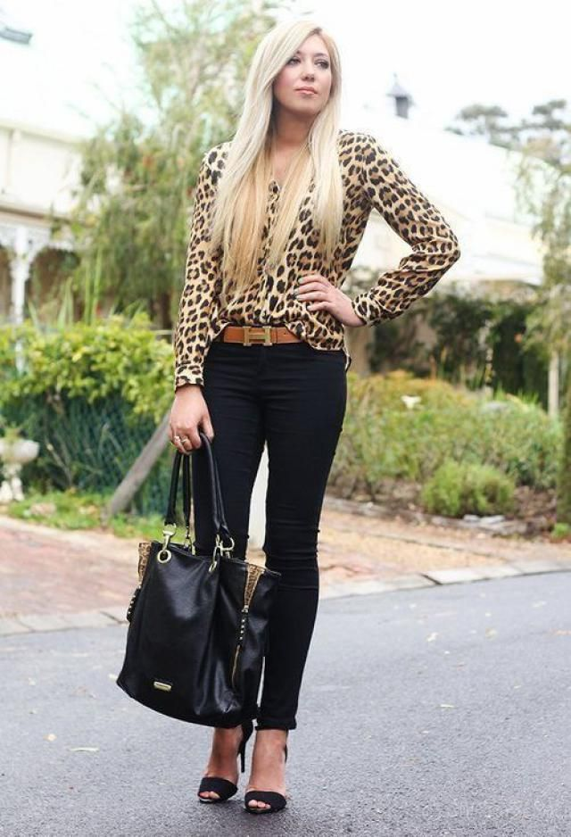 ZAFUL Leopard Blouse 