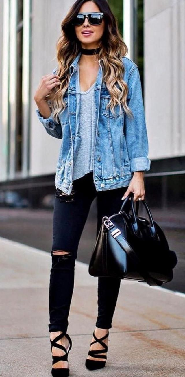 ZAFUL Flap Pockets Button Up Denim Jacket