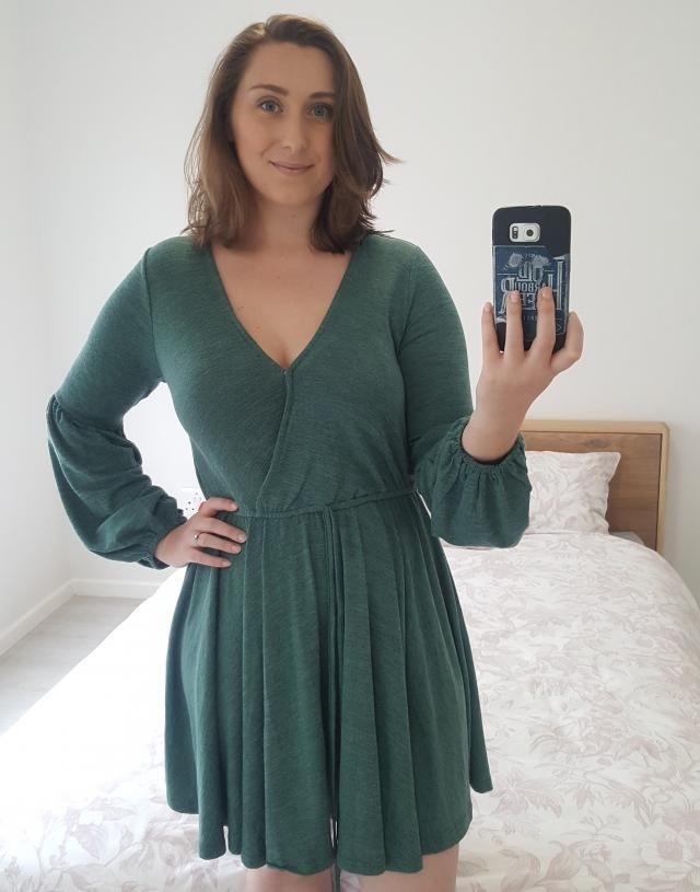 Love this dress! It has a popper at the bust, but I still think I will have to sew that whole section closed, as it is…