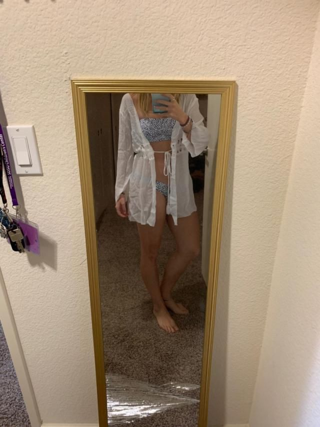 I'm 5'1 and 112lbs it's a little see through but super cute! Love it Fits well Super cute Looks exaclty like the pictu…