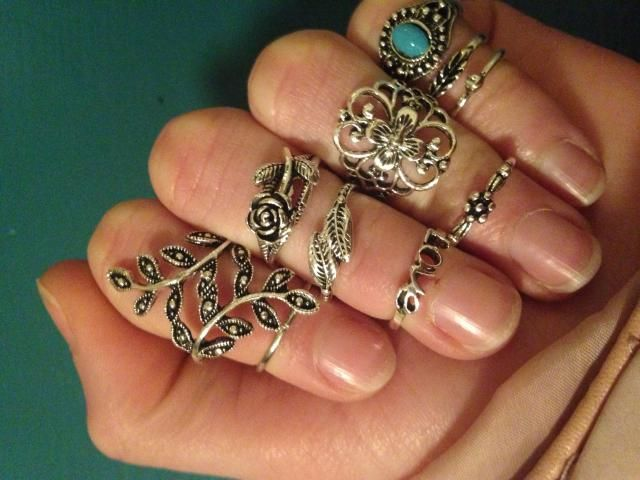 SO amazing! They look just like the pictures! I have big fingers, so they are a little small, but I wear them on the t…
