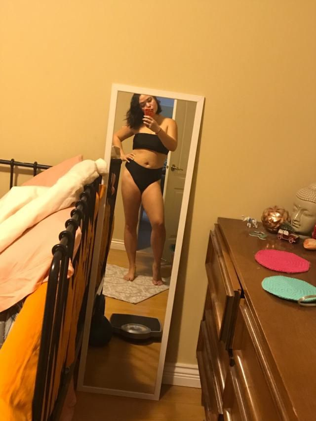 Do I need to get in shape? Yes, but the bathing suit looks amazing. I like that the bottoms are cheeky, and a flatteri…