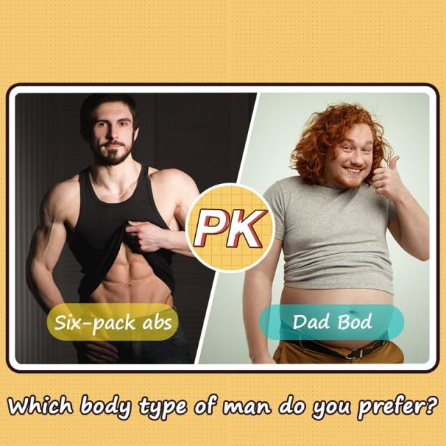 Which body type of man do you prefer?