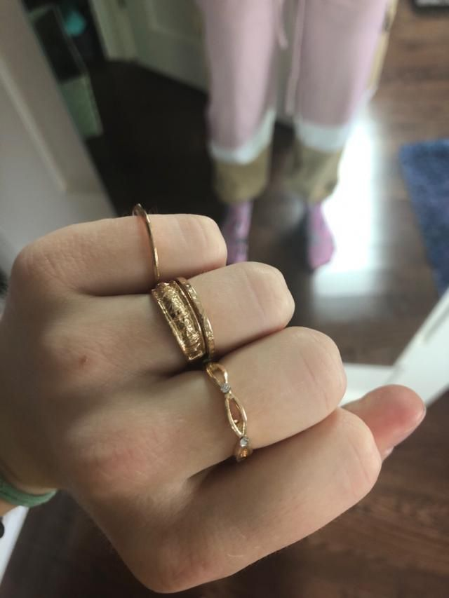 These rings are so versatile and cute! The rings vary in sizes, and even with my massive knuckles I can fit some of th…