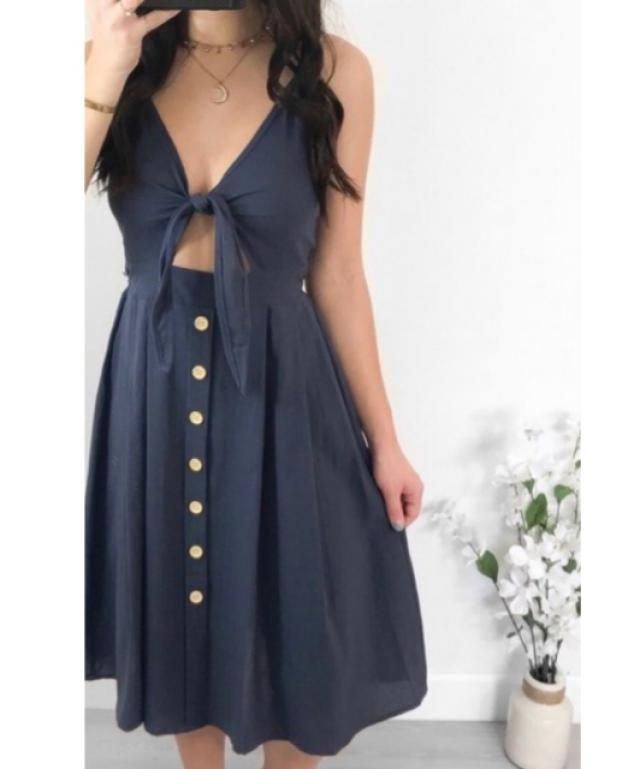 The cutest Navy Blue Dress. I love it.  This outfit is absolutely pretty and comfy.
