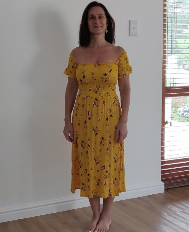Very happy with this summer-y dress. The slits make it perfect.