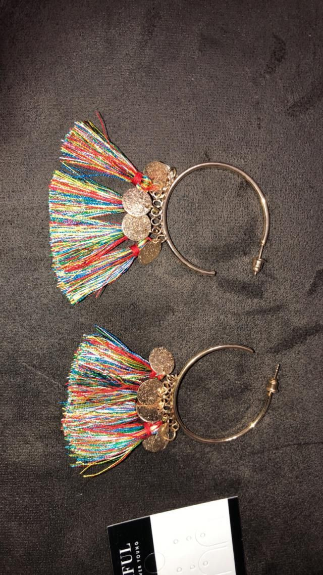 Super cute , loved them were really good quality haven't tried them on yet but nice size. The tassels are a little mor…