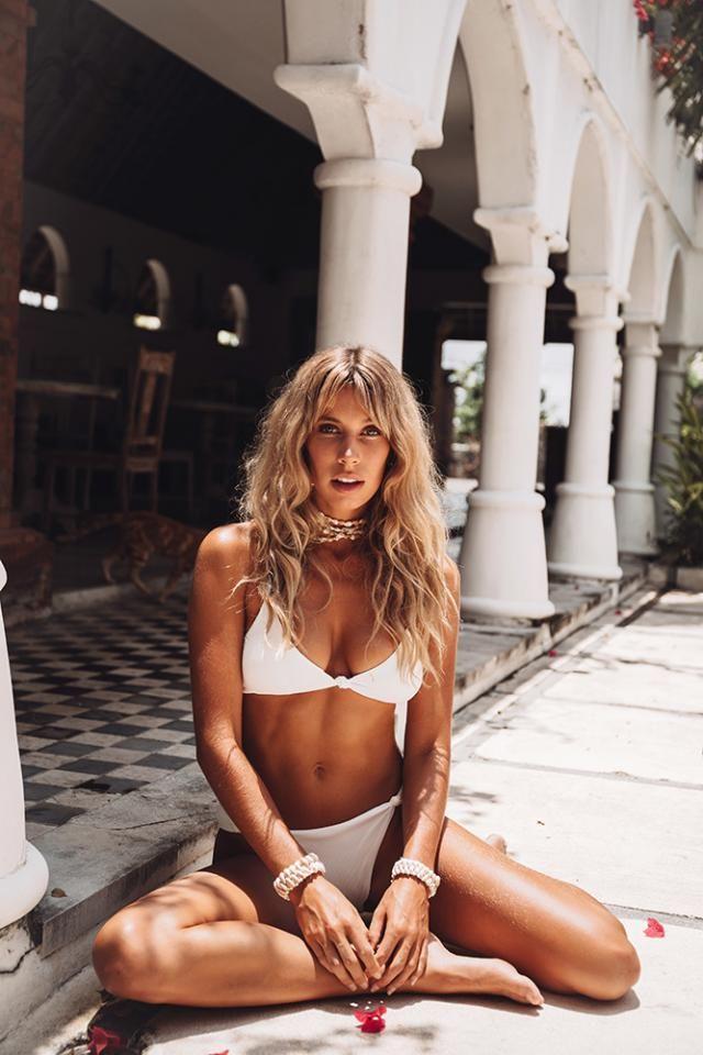 ZAFUL Textured Twisted High Waisted Bikini Set White  Popular twist bikini set white, BUY HERE, Excellent quality, lo…