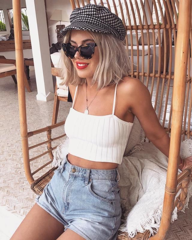 ZAFUL  Cami Tank Top White