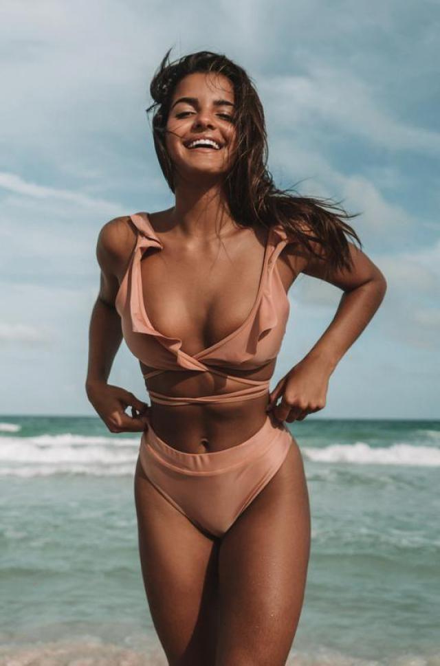 ZAFUL Ribbed Scrunch Butt Wrap Bikini Set  Hot wrap bikini set , BUY HERE, Excellent quality, low price!Only in ZAFU…
