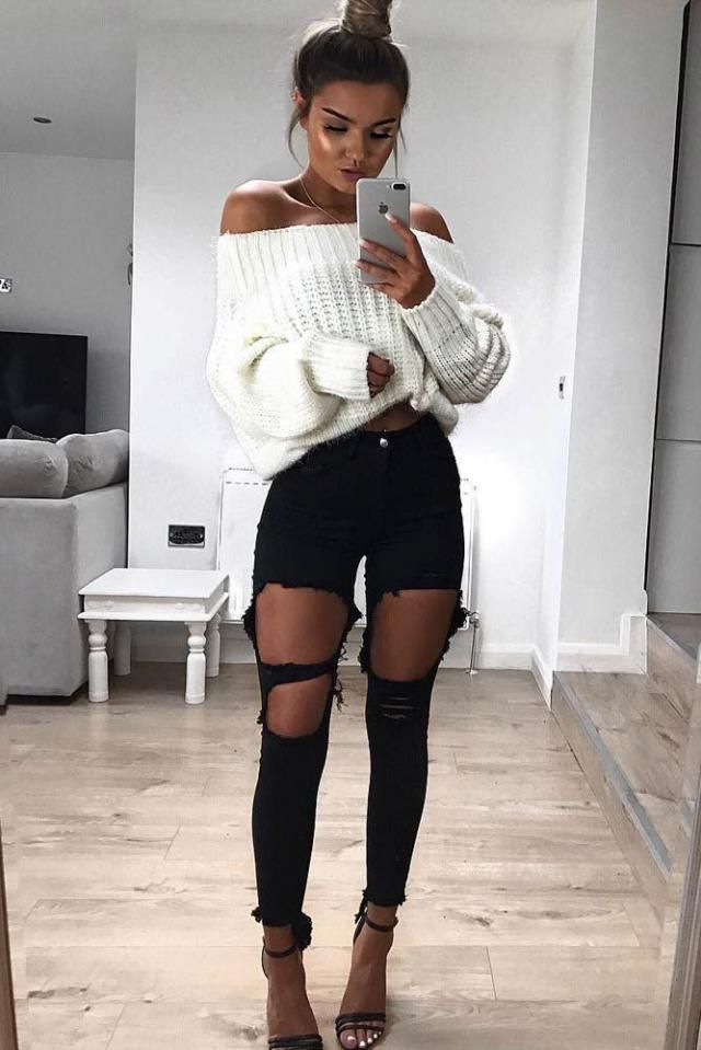 I love this sexy simple outfit its easy and stylish