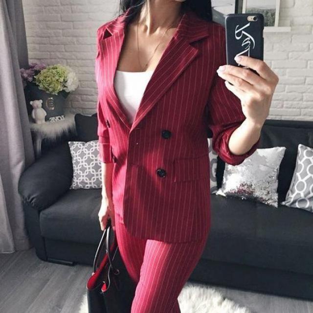 Great blazer here, onlyne shop, women style, buy here, great red stripe blazer, get it now.