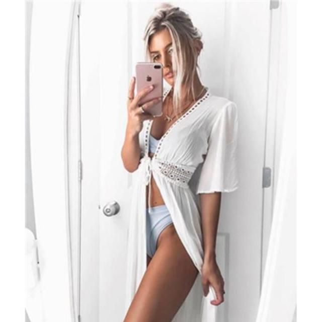 ZAFUL  Cover  White  HOT white bikini set and cover , BUY HERE, Excellent quality, low price!Only in ZAFUL,great dis…