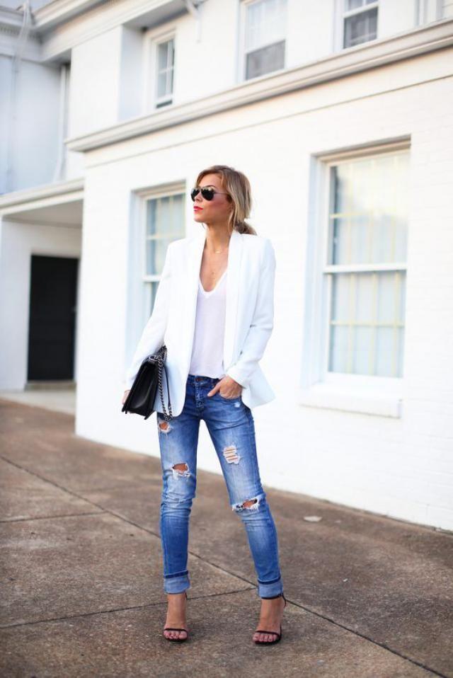 White blazer, online shop, women fashion, buy now, only on zaful, great styight  !!