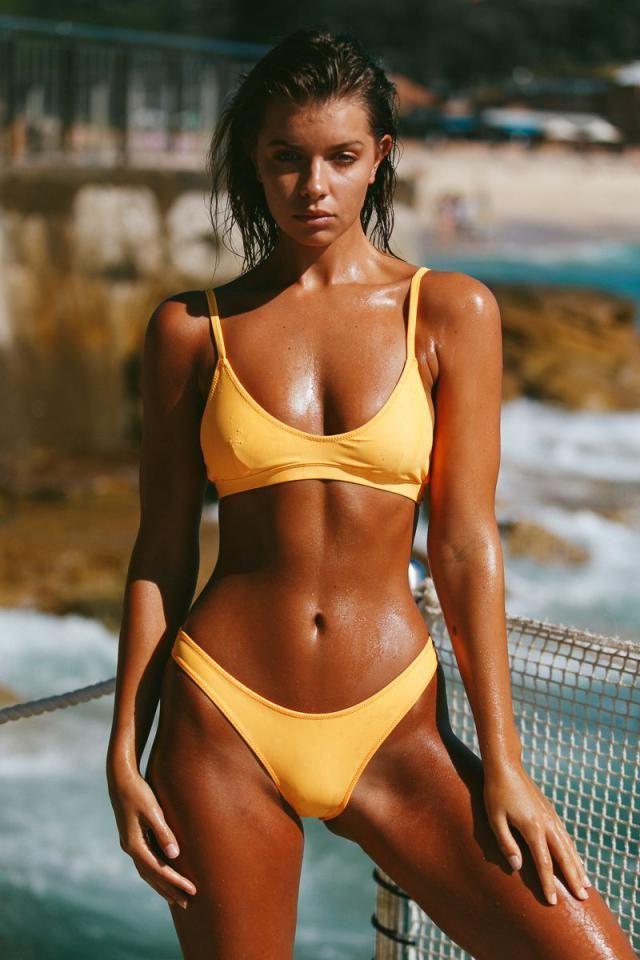 ZAFUL Padding Bikini Set Yellow   HOT yellow bikini set  , BUY HERE, Excellent quality, low price!Only in ZAFUL,great…