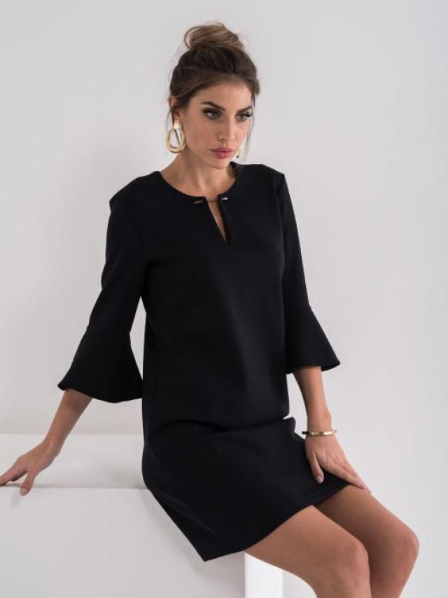 Modern black dress suitable for every occasion