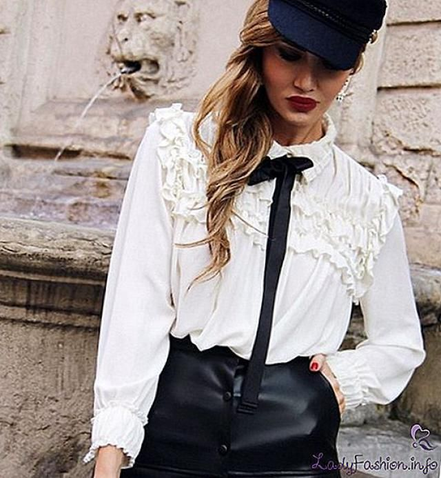 Sexy white blouses for every occasion