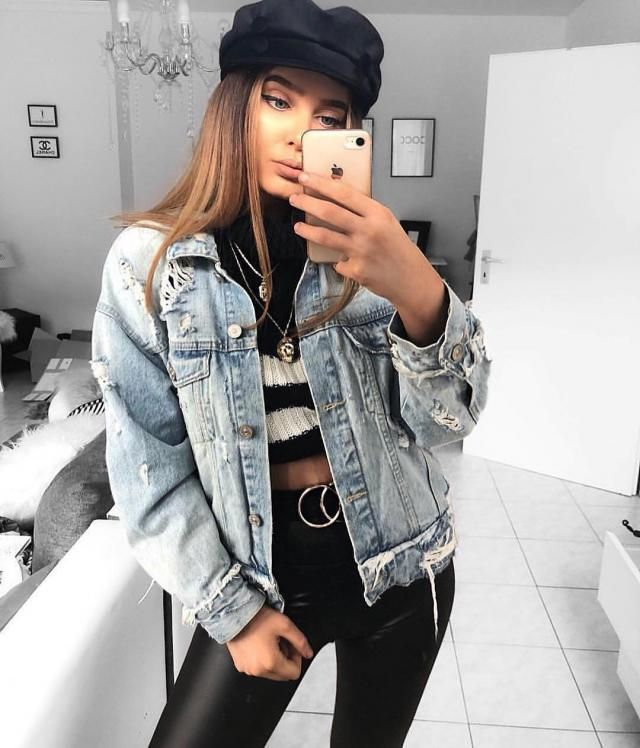 Denim jackets are one of the best ways to add style to any basic outfit