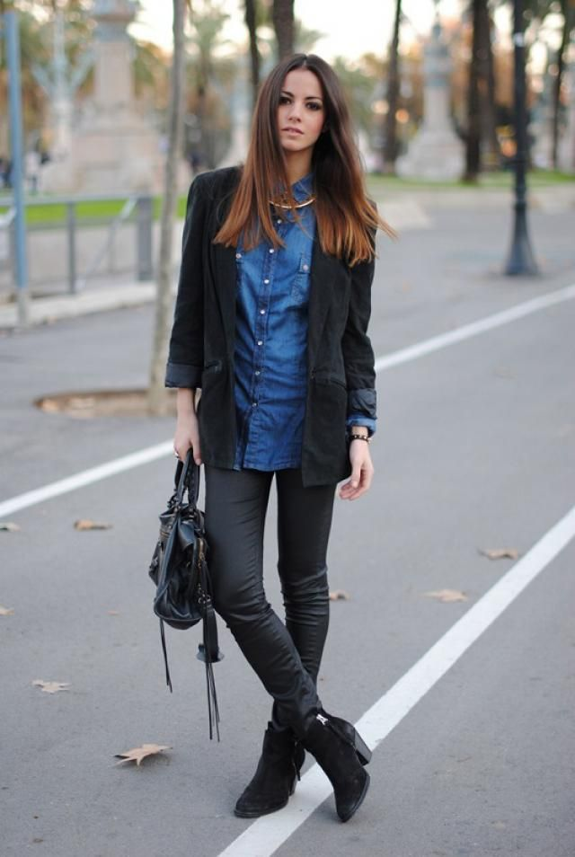 Sweater and pants for a relaxed combination