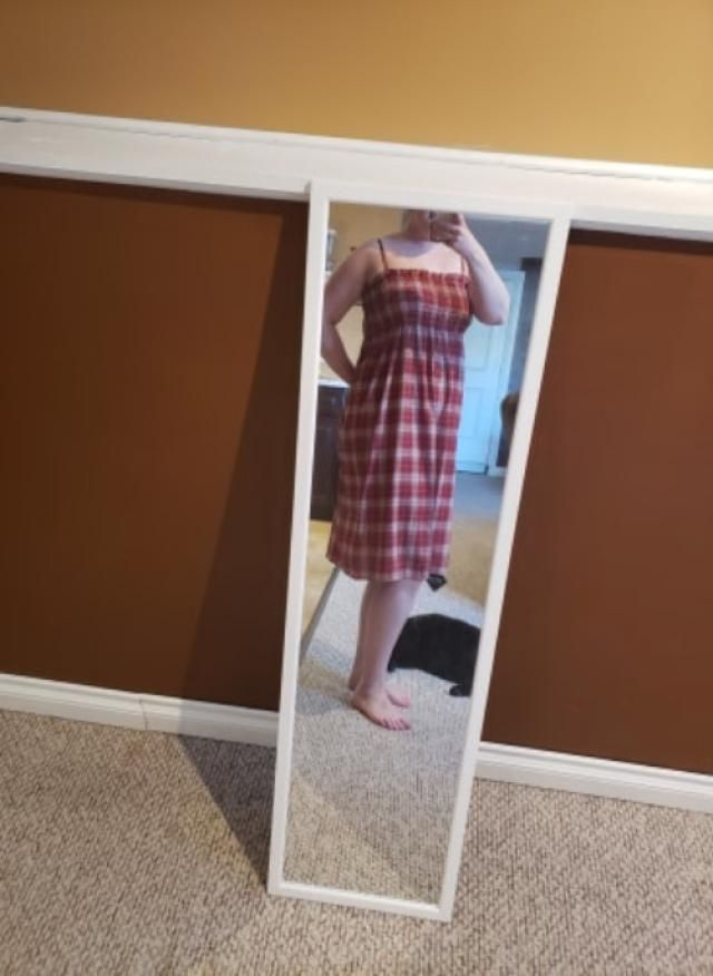 I love it. Great breathable material, not see through, fits true to size. Can't wait to wear it this summer. Perfect f…