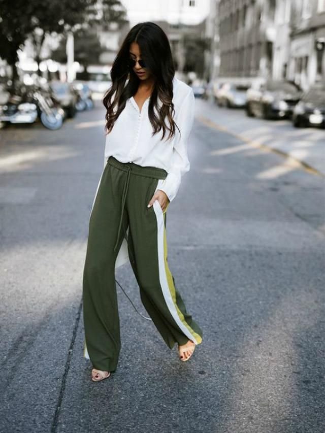 Sports pants are trendy this year, can be worn on flat shoes as well as elegant shoes, comfortable and practical you ca…