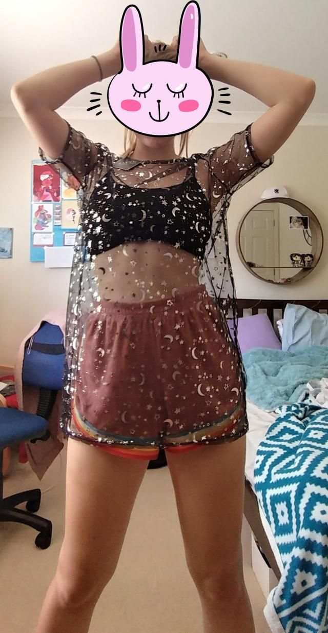 This has become my absolute fav clothing I own now! The material is so comfy, not scratchy at all, and the starry deta…