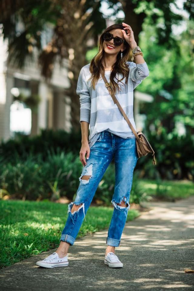 Hole Distressed Jeans on zaful, women style, online shop, great fashion.