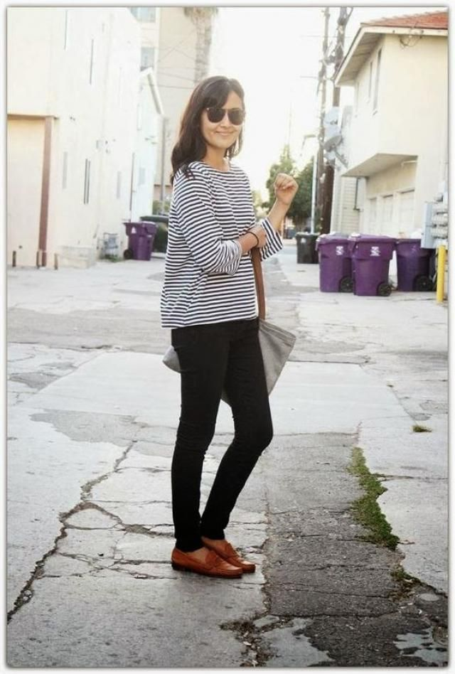 Stripe, Neck Striped T-shirt, women zaful style, spring style, online shop, buy now, great fashion!