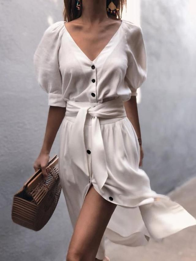 Trendy white dresses perfect for summer days,