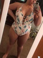 ae87ddbb47c 29% OFF] [HOT] 2019 ZAFUL Plus Size Flower Criss Cross Swimsuit In ...