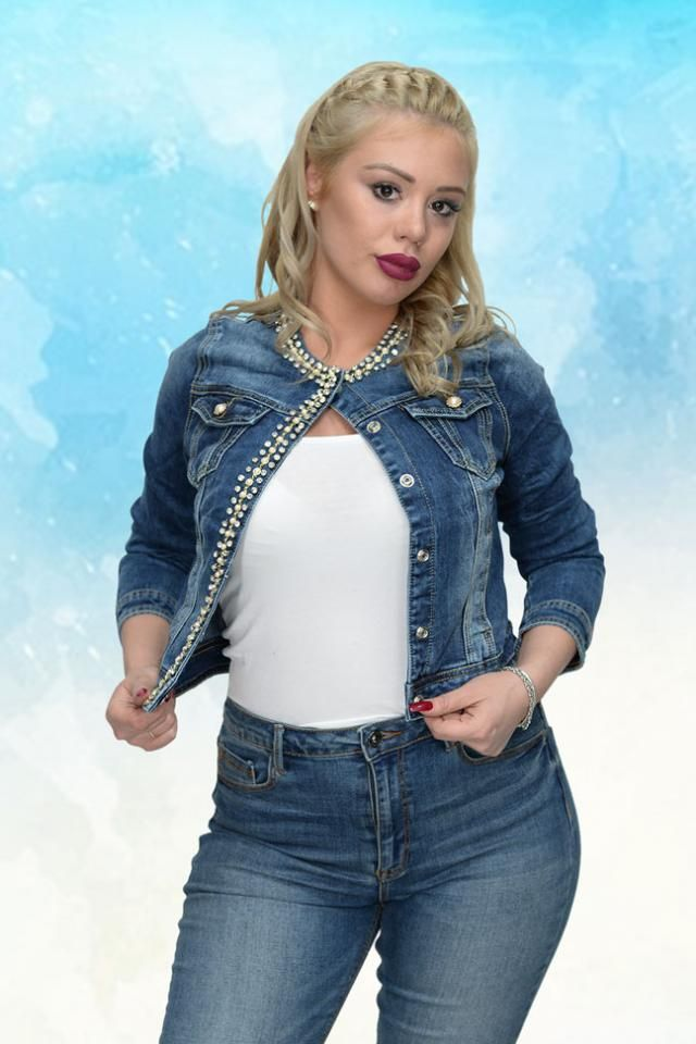 Women&;s jeans jacket perfect for combinations with