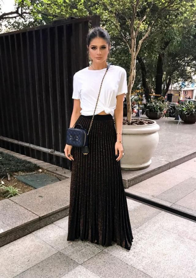 Modern long skirt is practical for a variety of combinations