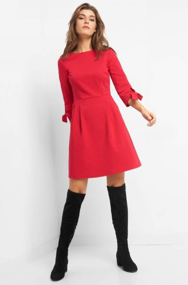 Red dress modern and sexy, always a good choice for any occasion,