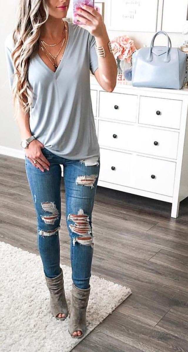 Trend Jeans Every woman must have a closet, wear them with romantic blouses and shirts, Zaful has a great selection o…