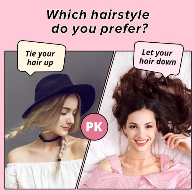 Which hairstyle do you prefer? ♠ A. Tie your hair up     ♥ B. Let your hair down  Let us know your idea in the comm…