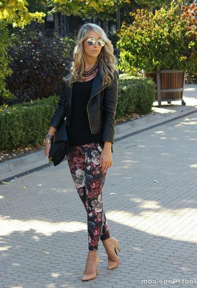 Leggings and leather jackets are always a trendy combination, you can handle them for various occasions, visit Zaful, t…