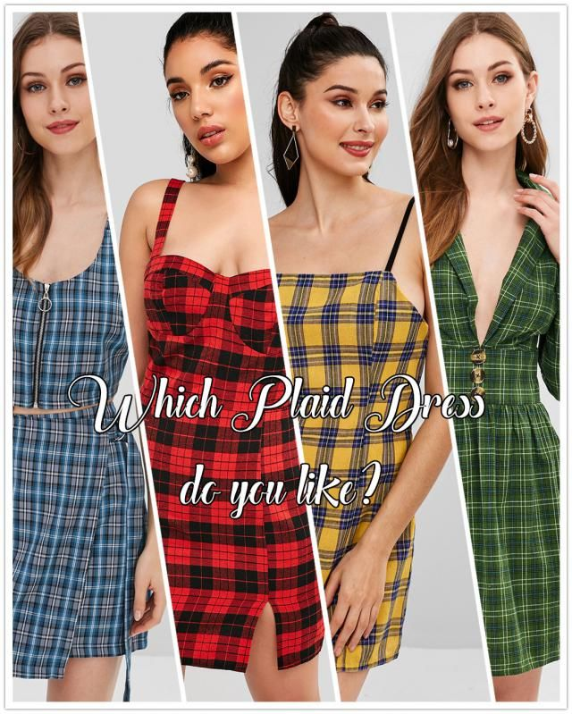 【Vote & Win!】 Let&;s go back to &;90s! Vote for your fave plaid dress and tell us the reason. How would you sty…