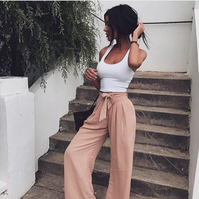 Cropped Tank Top  White