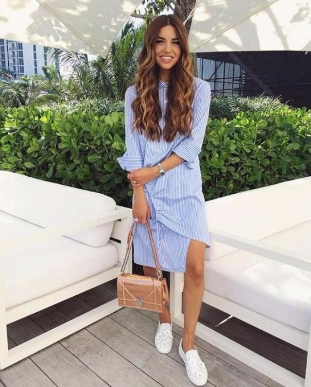If you are looking for a casual cool everyday dress this striped shirt dress is for you