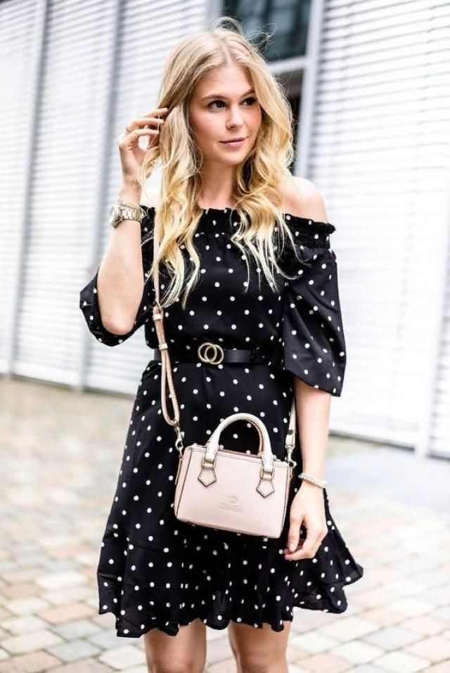 Keep things stylish and fun with this pretty polka dot dress