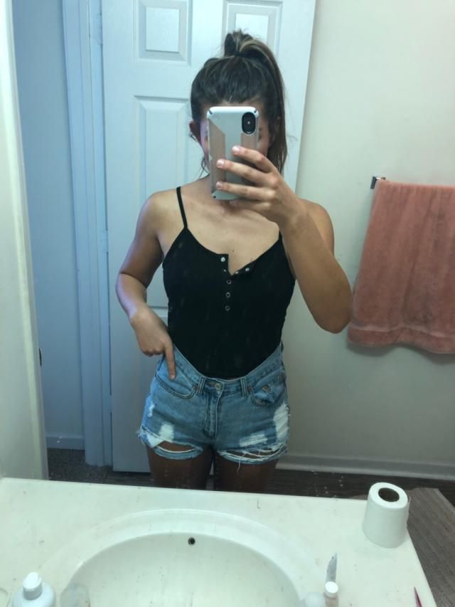 Super cute and comfy. Only the first two buttons come undone and the straps are not adjustable, but it fits very well