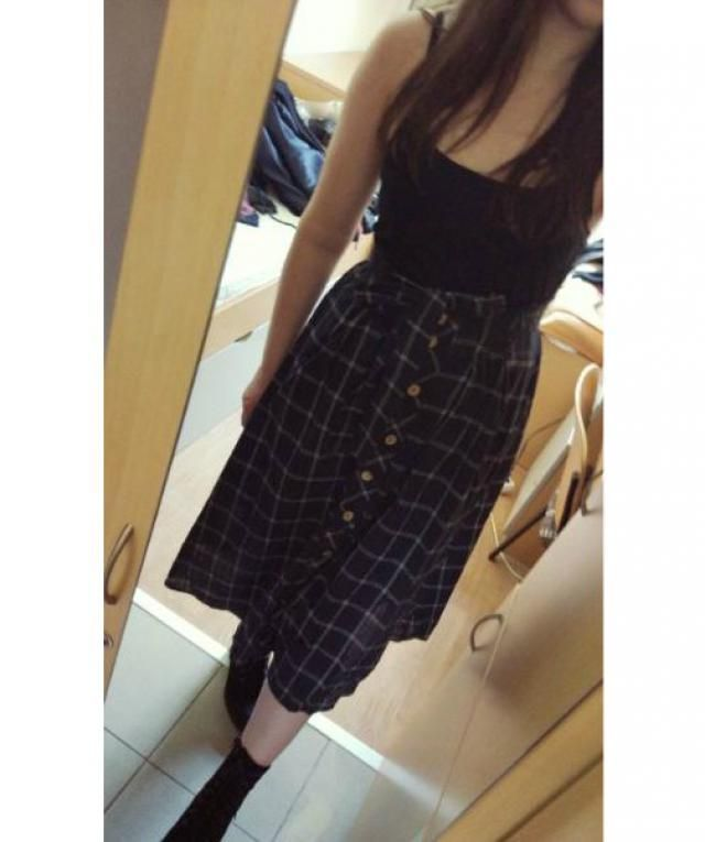 Cute skirt, but it&;s really long unless you tie it up higher around your waist. I&;m 5&;5 so it will probably look be…