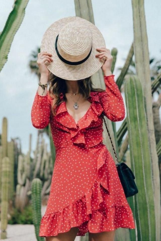 I don&;t know why but i&;m obsessed with this polka dot red dress, look how gorgeous it is