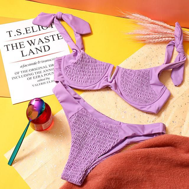 【Name this item and WIN!】 How would you describe this beautiful lilac bikini? Write down your ideas in the comment belo…