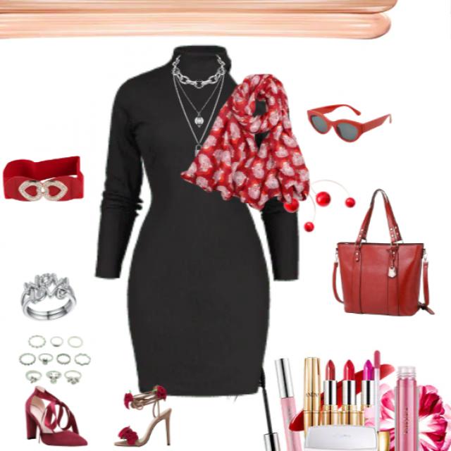 &black  &red