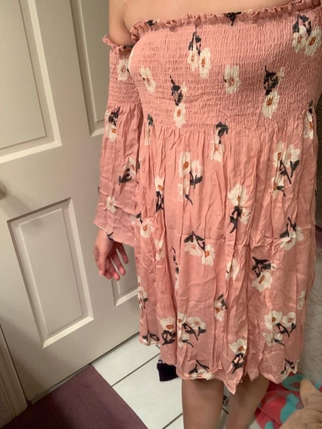 Super cute. Definitely needs steaming or ironing. The arms are really tight at the top. I'm going to have to fix it so…